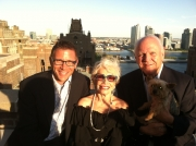 """Rob, me, Charles & Tommy's """"Shubert."""" Check the East River view."""