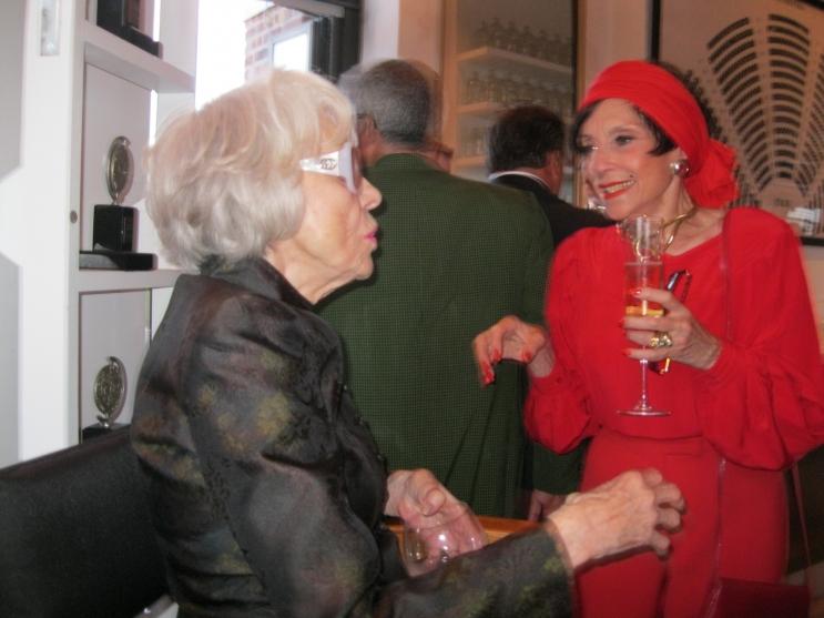 Liliane Montevecchi greets Carol