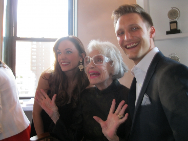 Laura Osnes, Carol, and Nathan Johnson