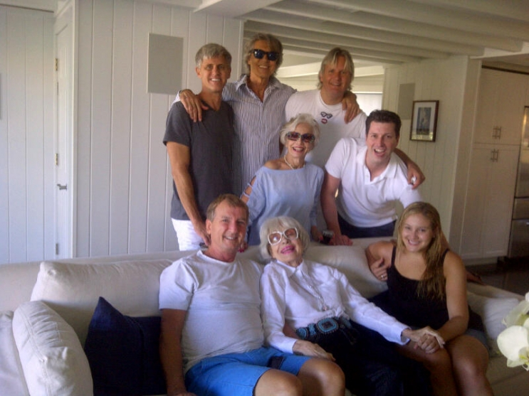 Standing:Jerry Green, Tommy Tune, Gloria, Peter Glebo. Wayne Gmitter. Seated:Gary Hall, Carol Channing, and Isabel Kaplan.